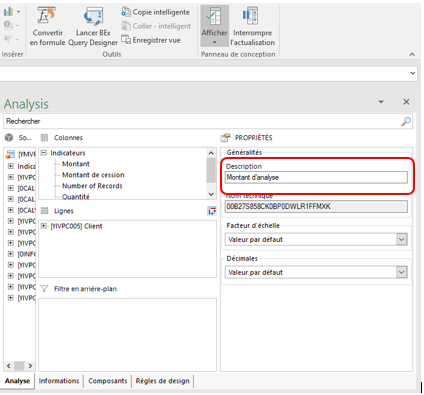 modification description SAP BusinessObjects Analysis 2.3