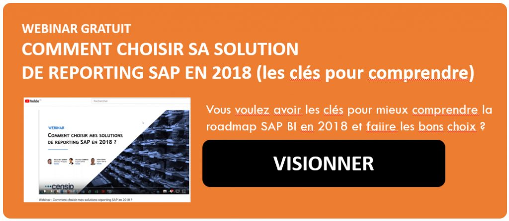 Webinar : choisir sa solution SAP BI en 2018